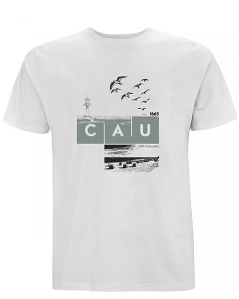 T-Shirt CAU maritim Herren weiß