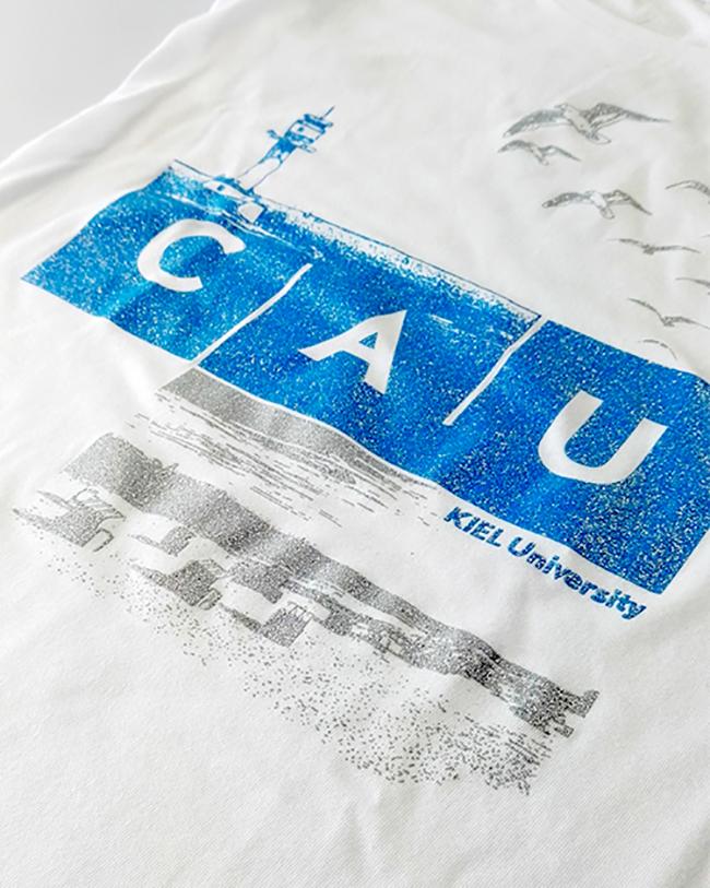 T-Shirt CAU maritim Damen weiß Glitzerdruck   Damen   Webshop der ... 5caf4ea655