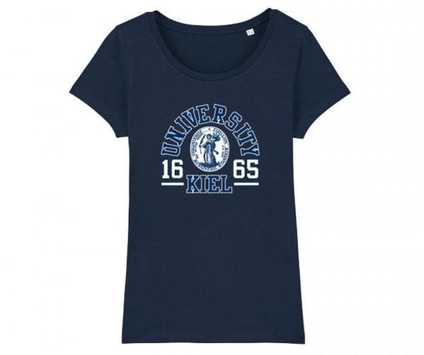 Damen T-Shirt College Navy