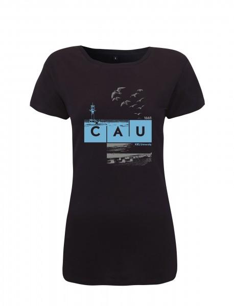T-Shirt CAU maritim Damen navy