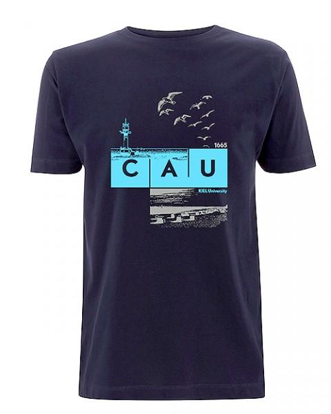 T-Shirt CAU maritim Herren navy