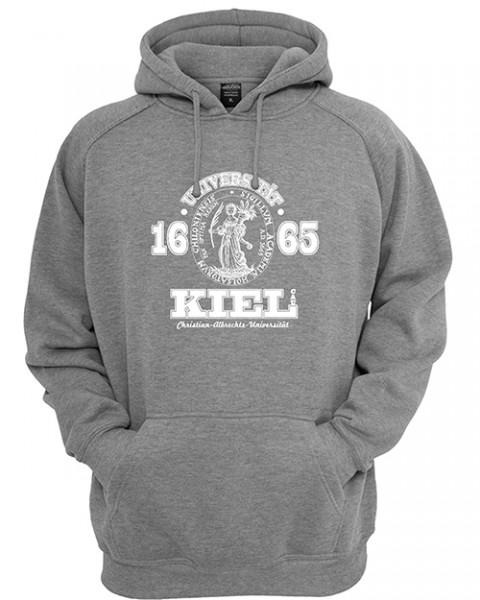 Kapuzensweater Siegel grau