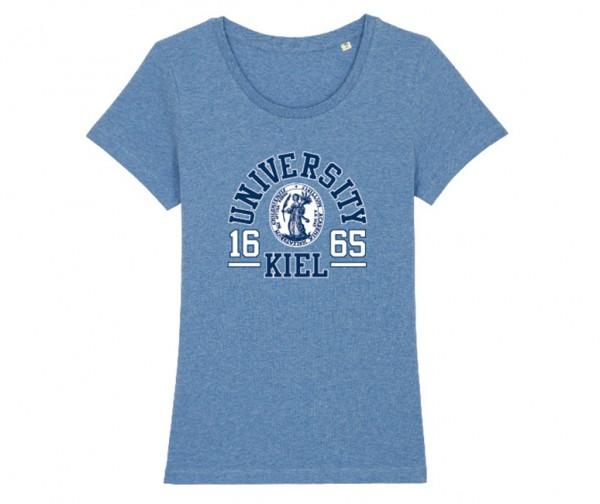 Damen T-Shirt College Denim