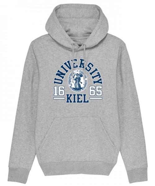 Unisex Hoodie College melange grey XXL
