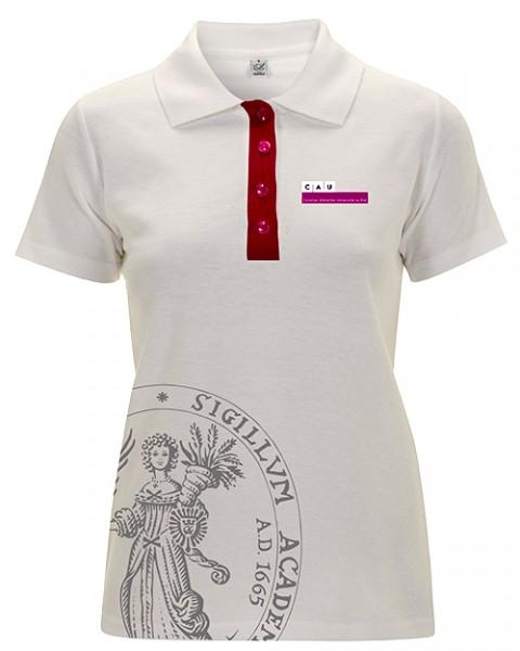 Polo-Shirt Damen grau