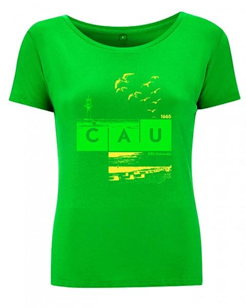T-Shirt CAU maritim Damen grün