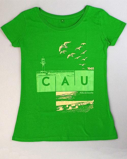 T-Shirt CAU maritim Damen grün   Damen   Webshop der Christian ... 45db379188