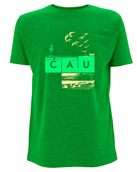 T-Shirt CAU maritim Herren grün